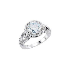 1.86 ct. Round diamonds solitaire with accents rin